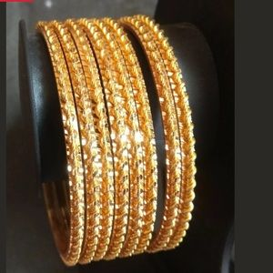 22k Gold plated 8 PCS Designer Bangles